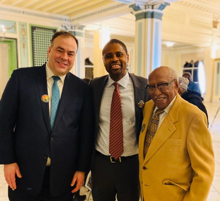 Cook County Assessor Fritz Kaegi, Kelwin Harris, and Dr. Tim Black